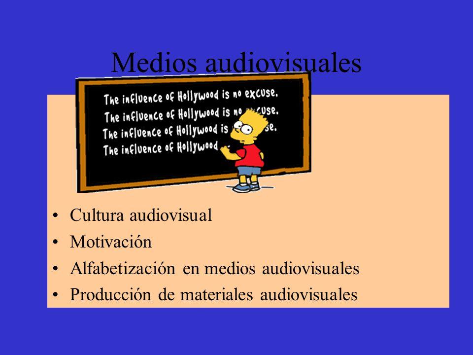 Medios audiovisuales Cultura audiovisual Motivación