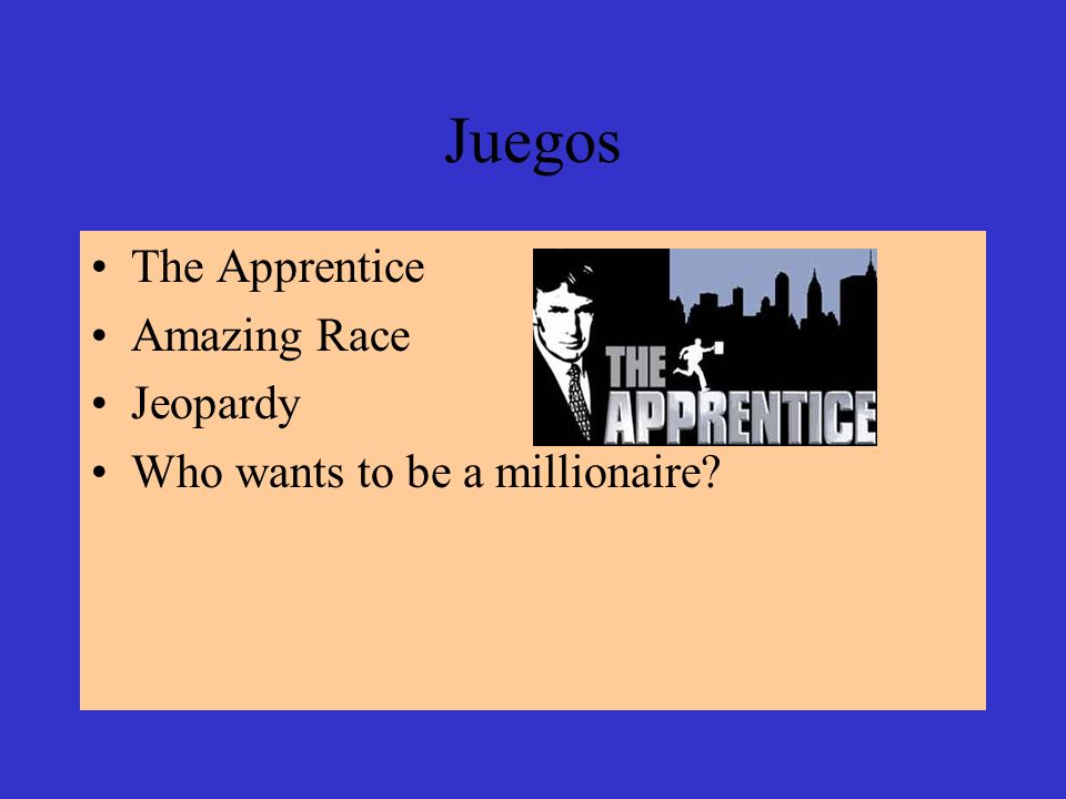 Juegos The Apprentice Amazing Race Jeopardy