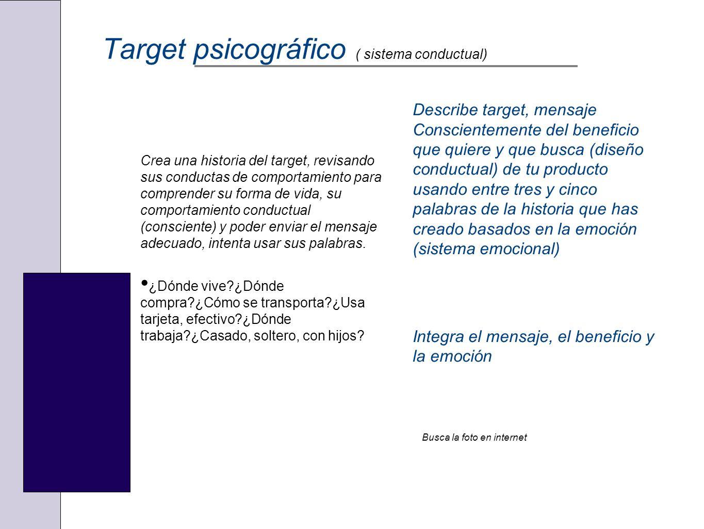 Target psicográfico ( sistema conductual)