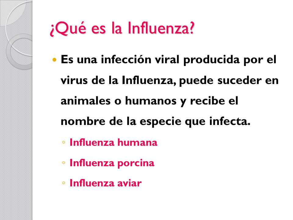 ¿Qué es la Influenza