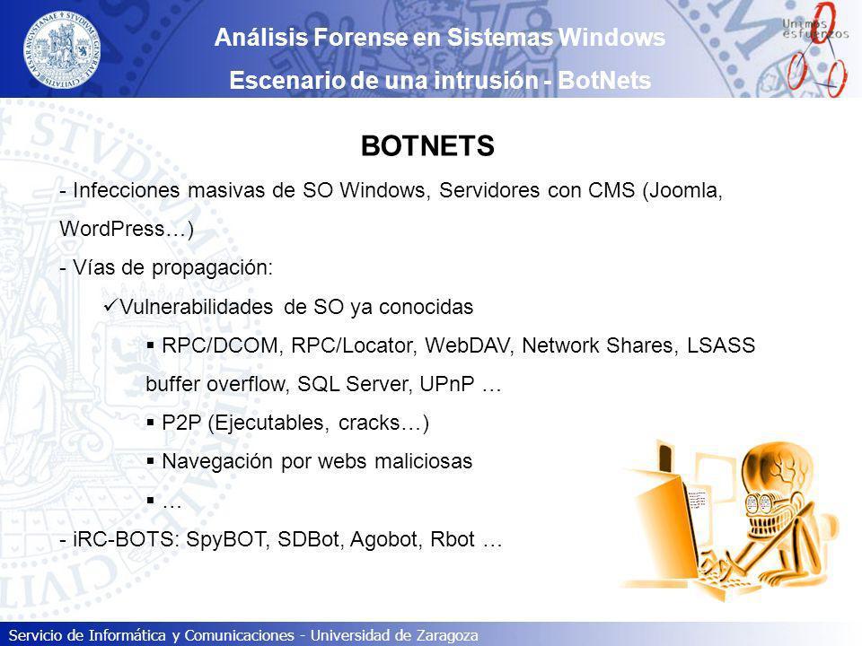 BOTNETS Análisis Forense en Sistemas Windows