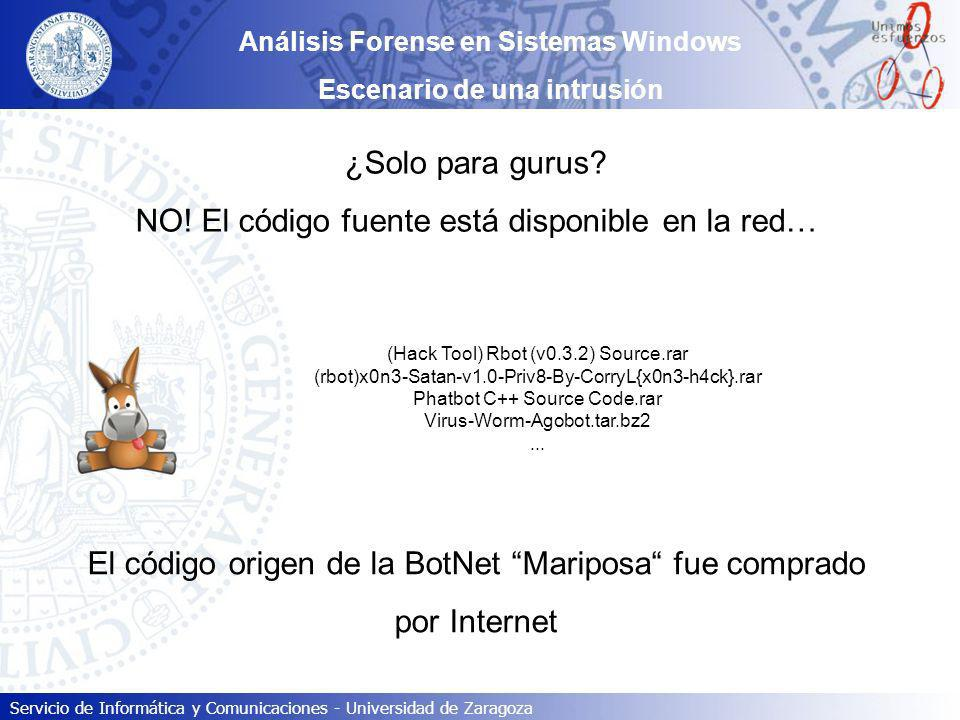 Análisis Forense en Sistemas Windows Escenario de una intrusión