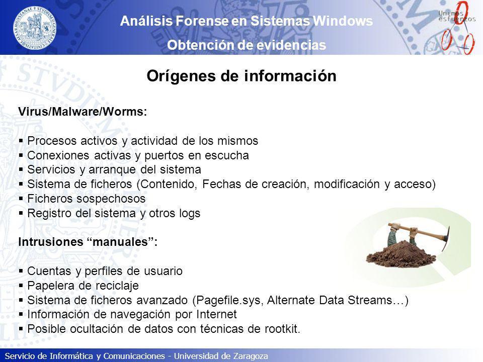 Orígenes de información