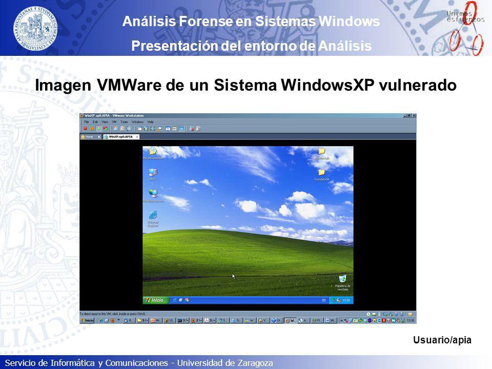 Imagen VMWare de un Sistema WindowsXP vulnerado