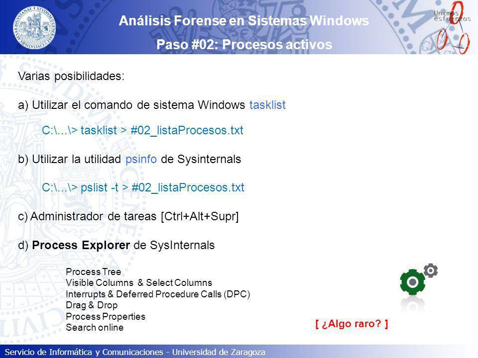 Análisis Forense en Sistemas Windows Paso #02: Procesos activos