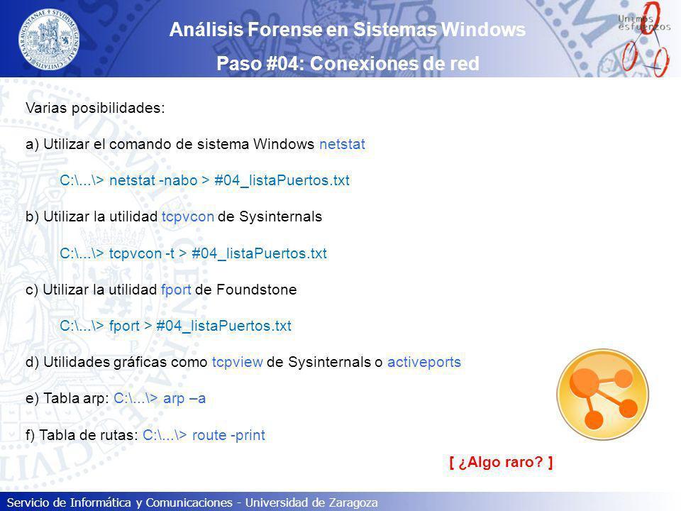 Análisis Forense en Sistemas Windows Paso #04: Conexiones de red