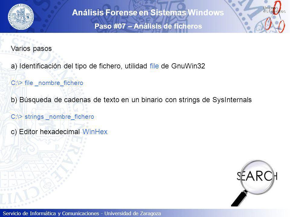 Análisis Forense en Sistemas Windows Paso #07 – Análisis de ficheros