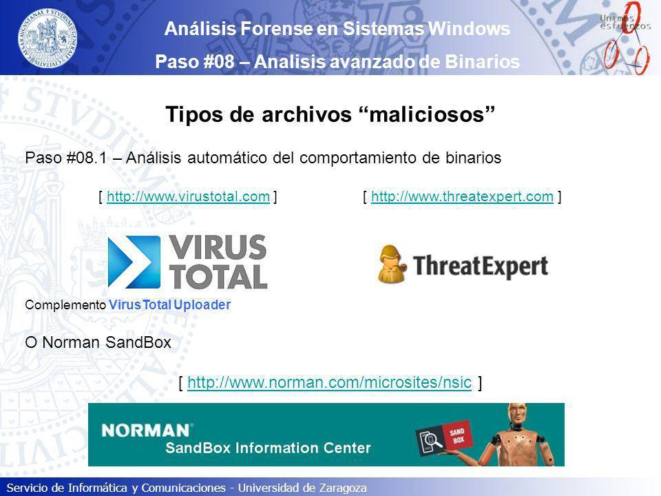 Tipos de archivos maliciosos