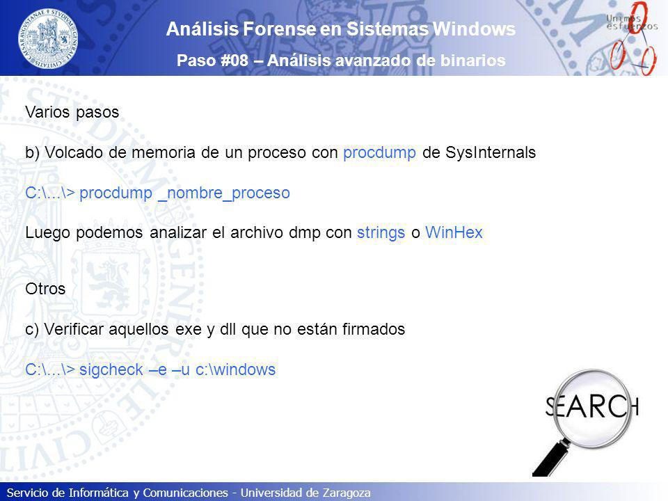 Análisis Forense en Sistemas Windows
