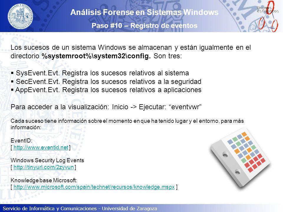 Análisis Forense en Sistemas Windows Paso #10 – Registro de eventos
