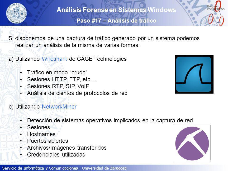 Análisis Forense en Sistemas Windows Paso #17 – Análisis de tráfico