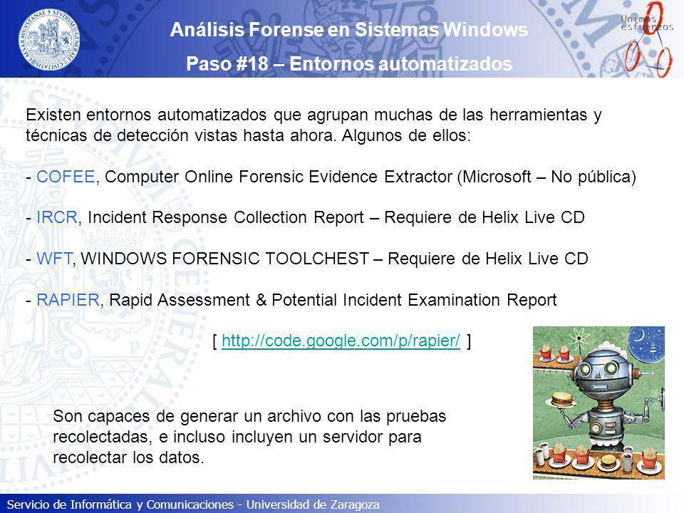 Análisis Forense en Sistemas Windows Paso #18 – Entornos automatizados