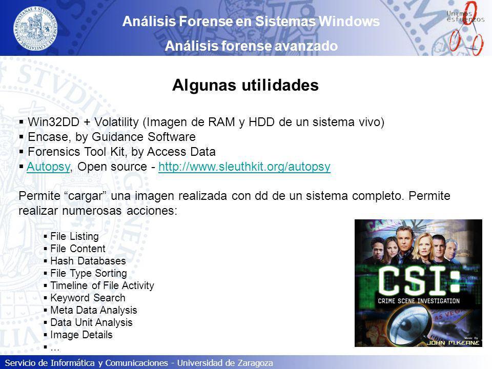 Análisis Forense en Sistemas Windows Análisis forense avanzado