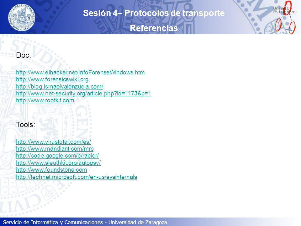 Sesión 4– Protocolos de transporte