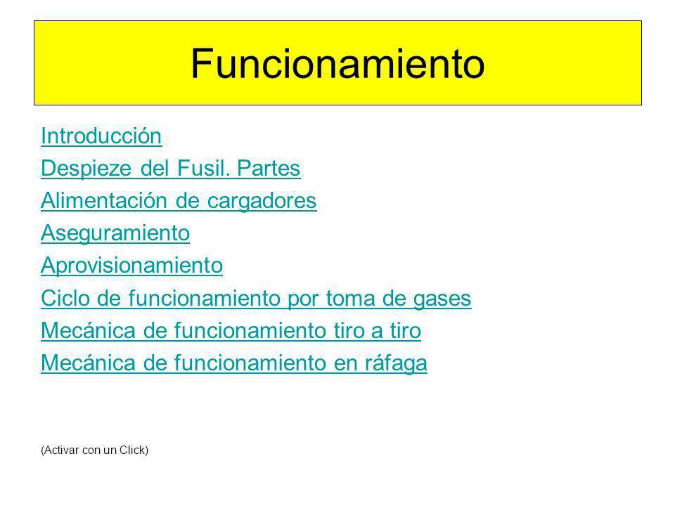 Funcionamiento Introducción Despieze del Fusil. Partes