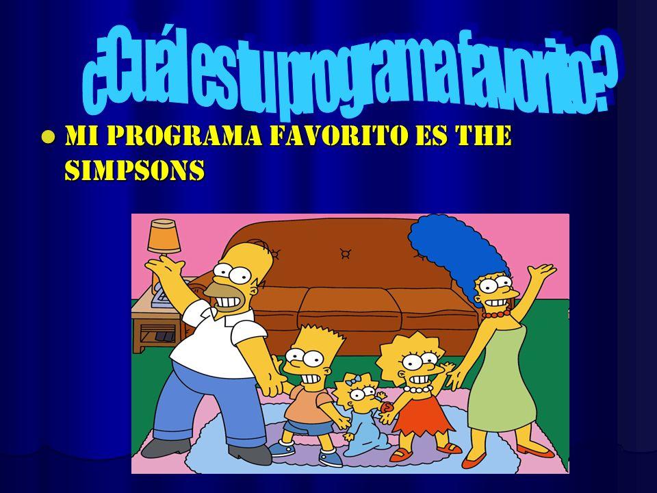 ¿Cuál es tu programa favorito
