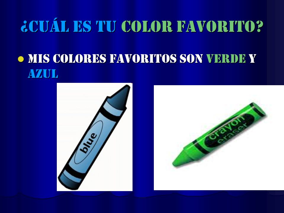 ¿cuál es tu color favorito