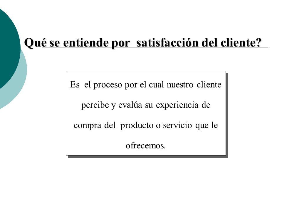 Qué se entiende por satisfacción del cliente