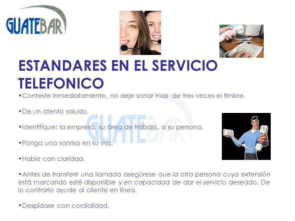 ESTANDARES EN EL SERVICIO TELEFONICO