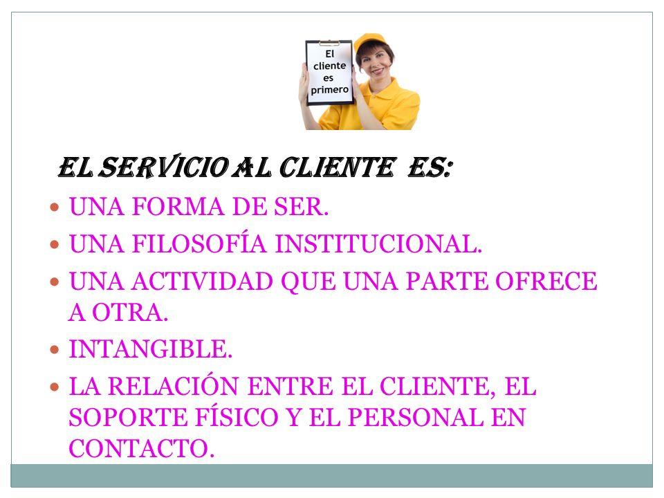 EL SERVICIO AL CLIENTE ES:
