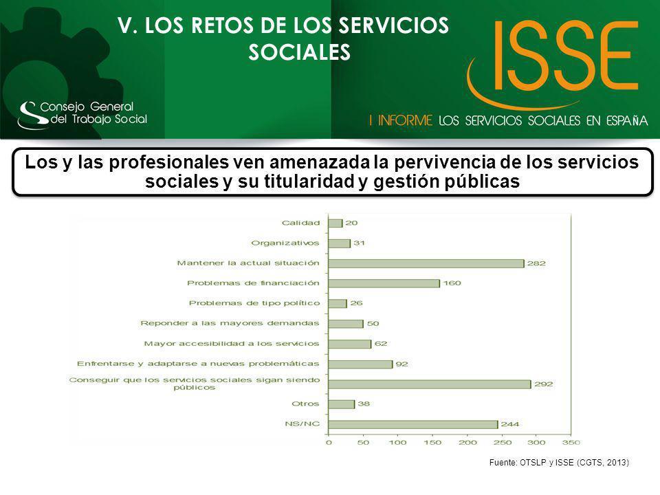 V. LOS RETOS DE LOS SERVICIOS SOCIALES