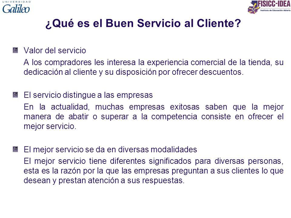 ¿Qué es el Buen Servicio al Cliente