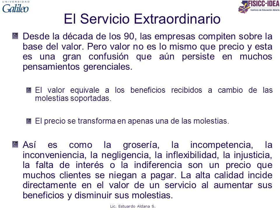 El Servicio Extraordinario