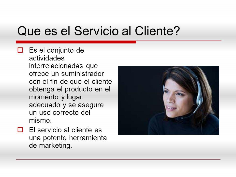 Que es el Servicio al Cliente