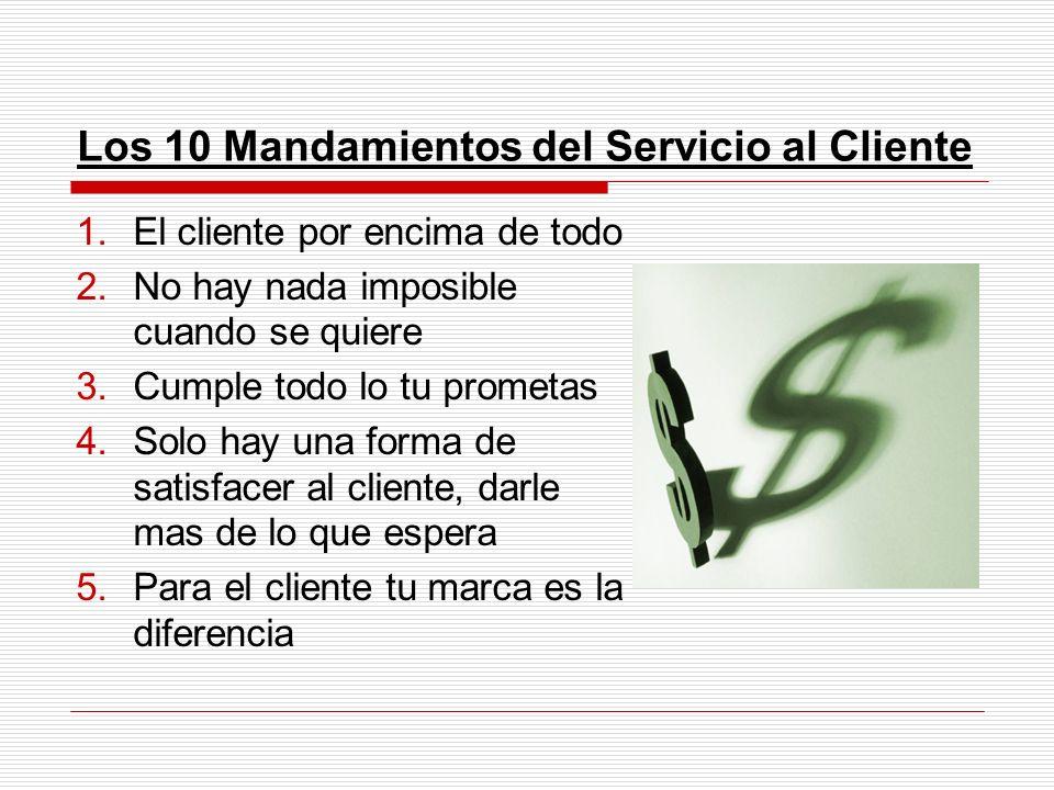 Los 10 Mandamientos del Servicio al Cliente