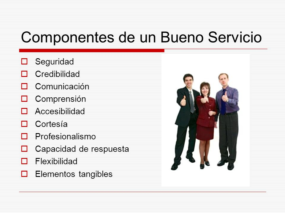 Componentes de un Bueno Servicio