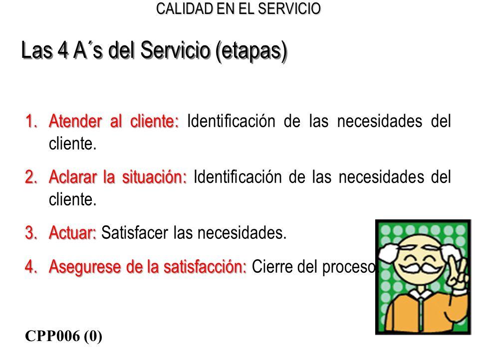 Las 4 A´s del Servicio (etapas)