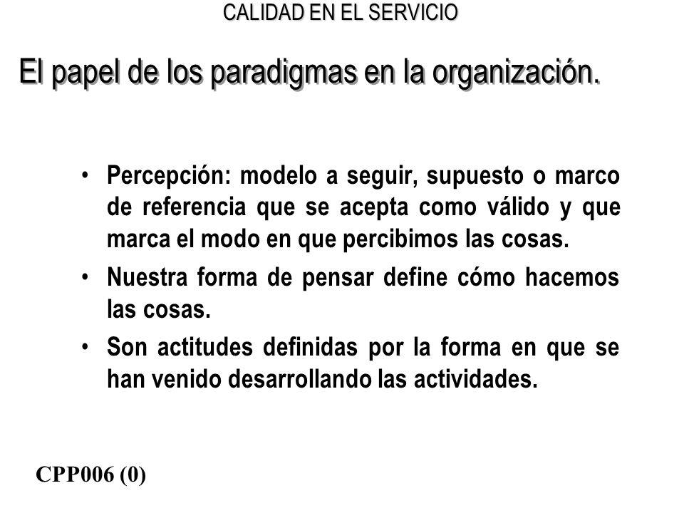 El papel de los paradigmas en la organización.