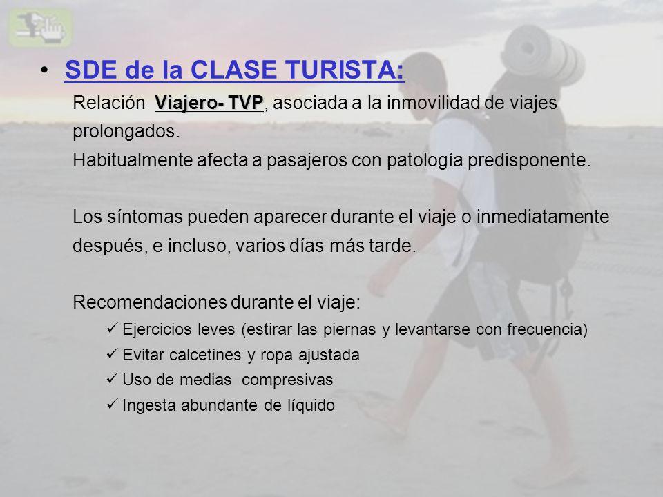 SDE de la CLASE TURISTA: