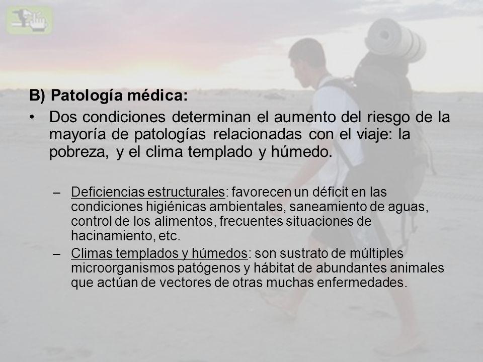 B) Patología médica: