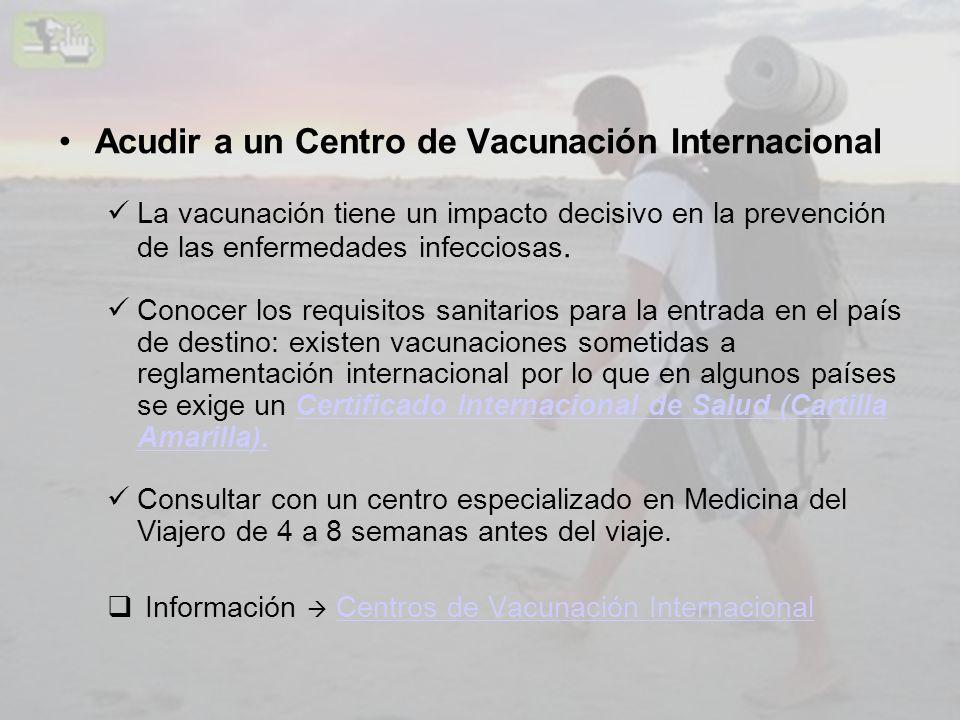 Acudir a un Centro de Vacunación Internacional