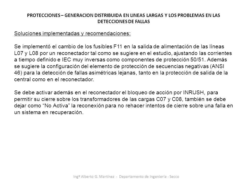 Ingº Alberto G. Martínez - Departamento de Ingeniería - Secco