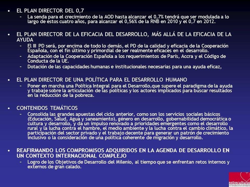 EL PLAN DIRECTOR DE UNA POLÍTICA PARA EL DESARROLLO HUMANO