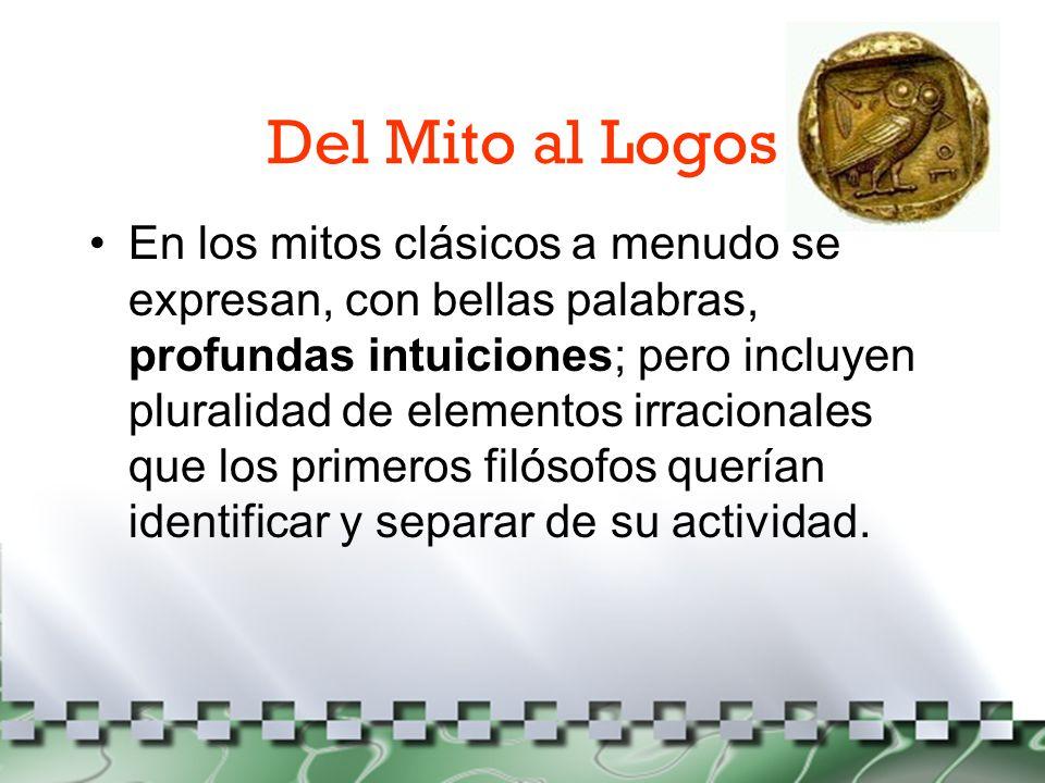 Del Mito al Logos