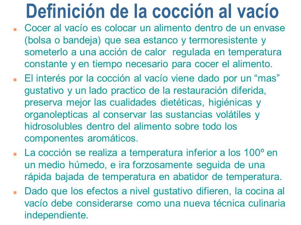 Definición de la cocción al vacío