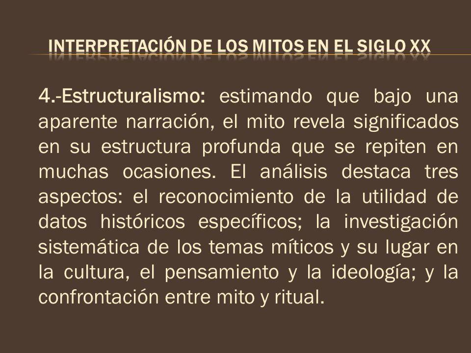 INTERPRETACIÓN DE LOS MITOS EN EL SIGLO XX