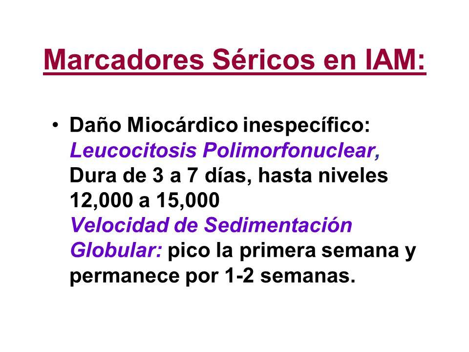 Marcadores Séricos en IAM:
