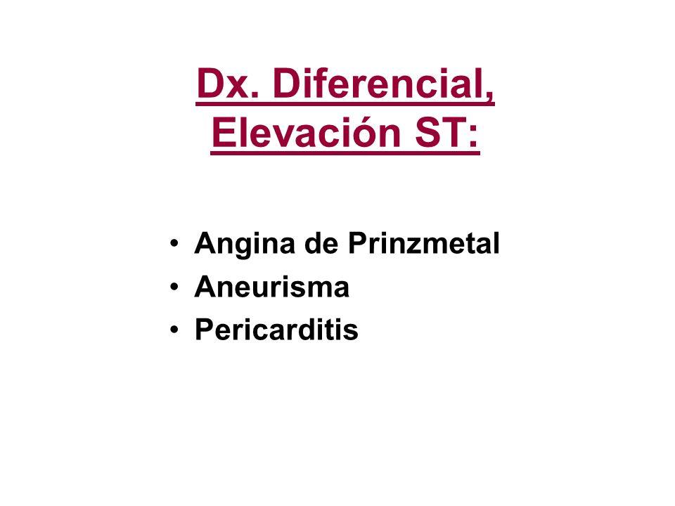 Dx. Diferencial, Elevación ST: