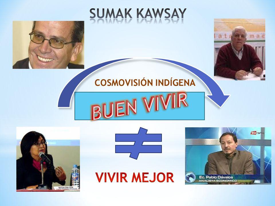 SUMAK KAWSAY COSMOVISIÓN INDÍGENA BUEN VIVIR VIVIR MEJOR