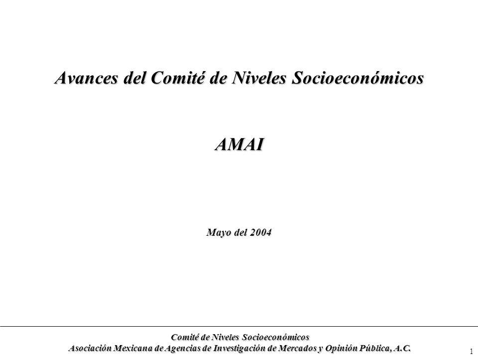 Avances del Comité de Niveles Socioeconómicos AMAI