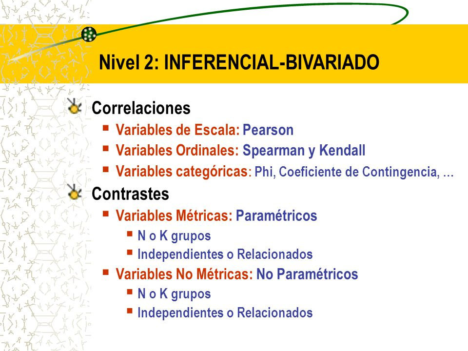 Nivel 2: INFERENCIAL-BIVARIADO