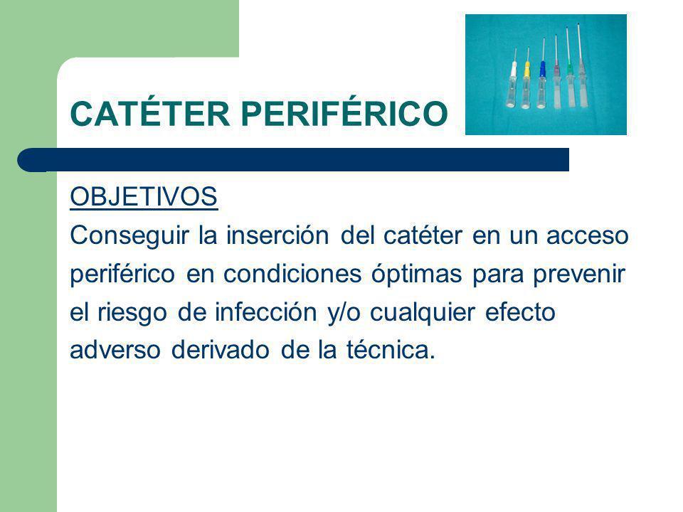 CATÉTER PERIFÉRICO OBJETIVOS