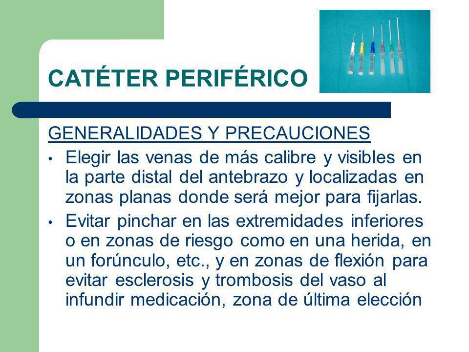CATÉTER PERIFÉRICO GENERALIDADES Y PRECAUCIONES