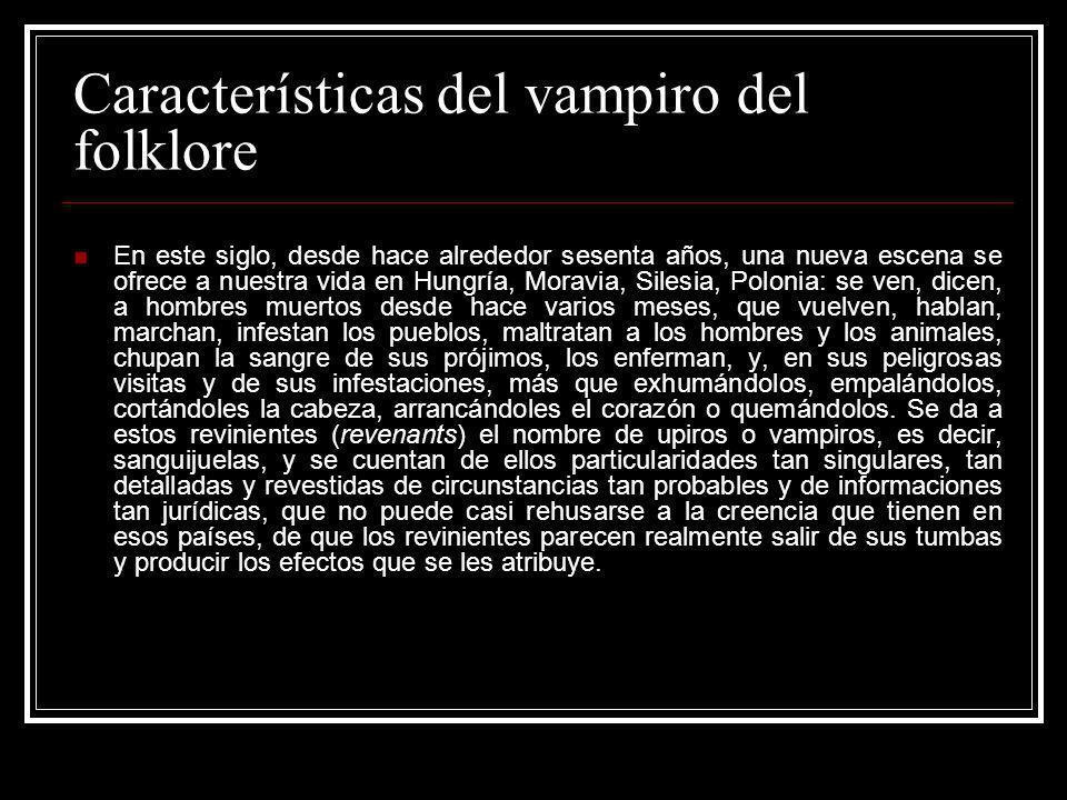 Características del vampiro del folklore