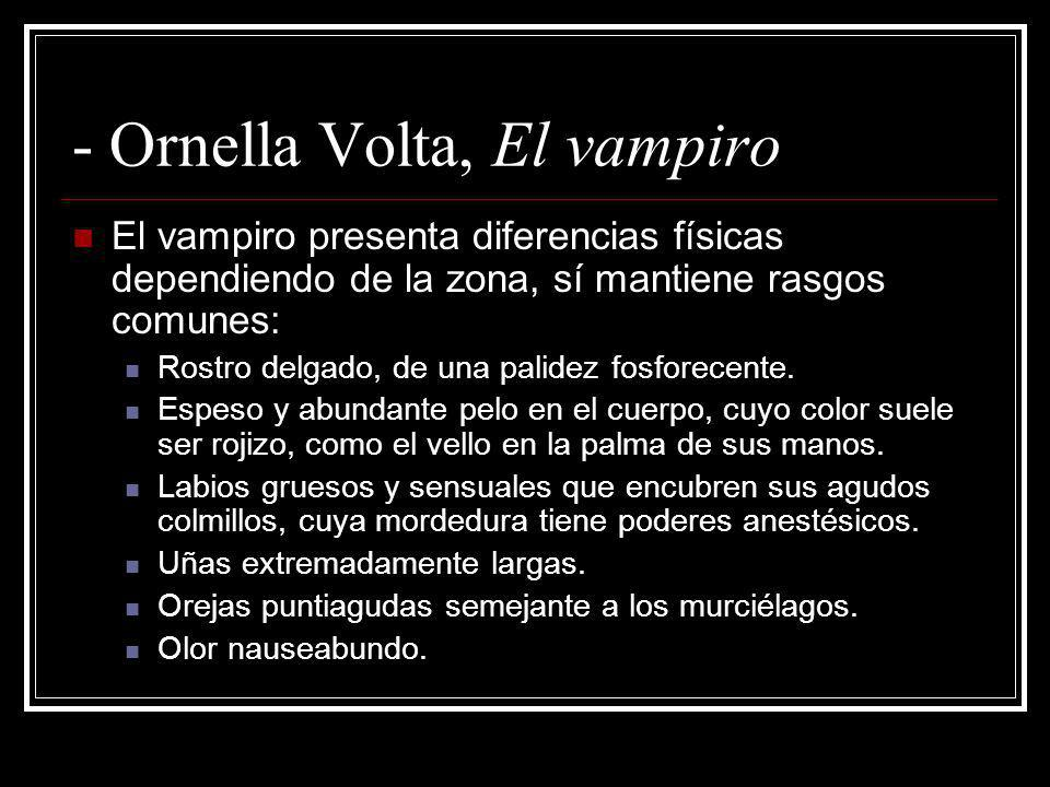 - Ornella Volta, El vampiro