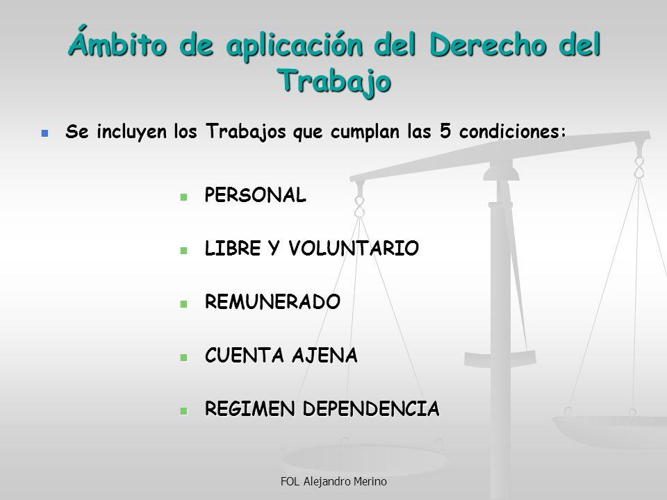 Ámbito de aplicación del Derecho del Trabajo